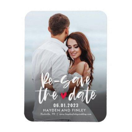 Charming Heart EDITABLE COLOR Resave The Date Magnet