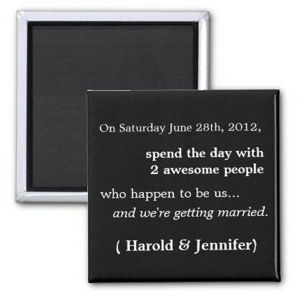 Cheap and Funny Save the Date Magnets 1