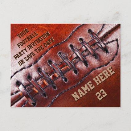 Cheap Personalized Football Invitations YOUR TEXT