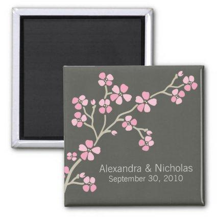 Cherry Blossom Designer Wedding Favor (pink) Magnet