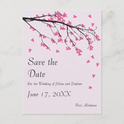 Cherry Blossom Stem - Save the Date Announcement