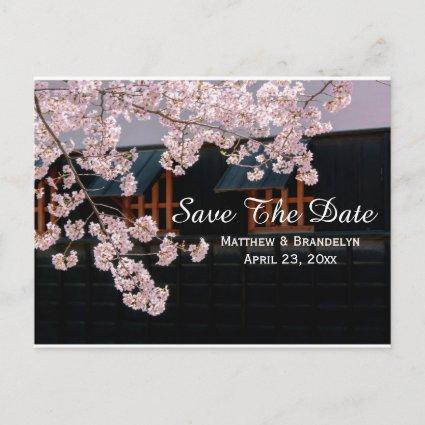 Cherry Blossoms Save The Date Wedding Post