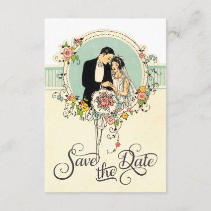 Chic Art Deco 1920's Bride & Groom Save The Date