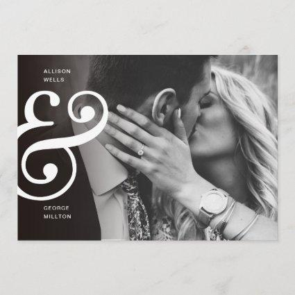 Chic Black + White SAVE THE DATE Ampersand