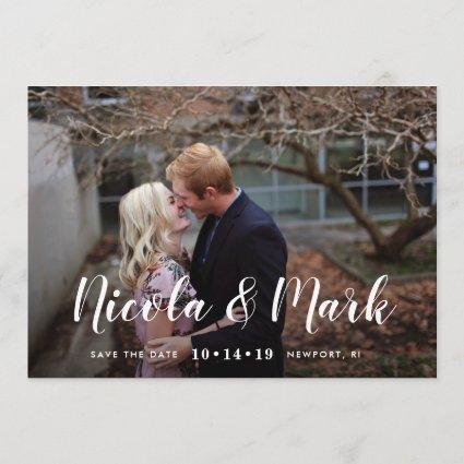 Chic Calligraphy | Photo Save the Date