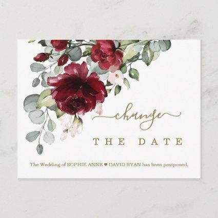 Chic Change Our Date Burgundy Flowers Wedding