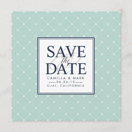 Chic Dots | Mint and Navy Save the Date