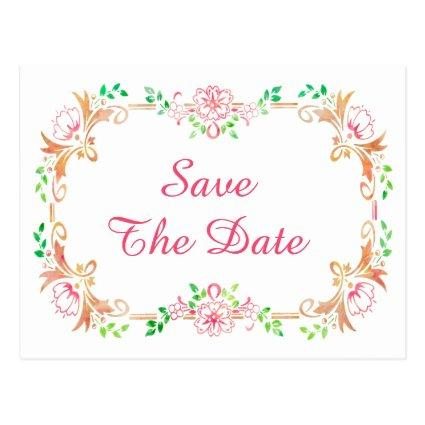 Floral watercolours birthdays save the date cards save the date cards chic floral watercolor 17th birthday bookmarktalkfo Gallery