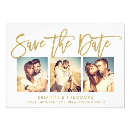 Chic Hand Lettered  Photo Collage Cards