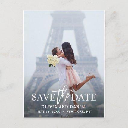 Chic & Modern Save the Date Photo Announcement