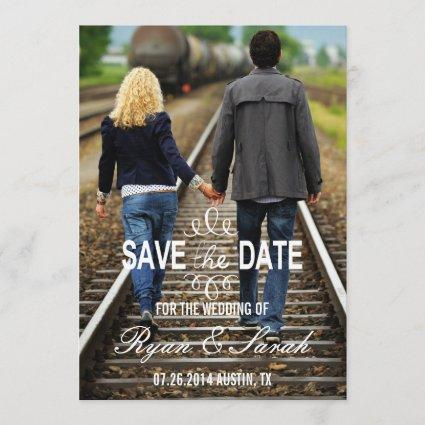 Chic Modern Swirl Save the Dates Save The Date