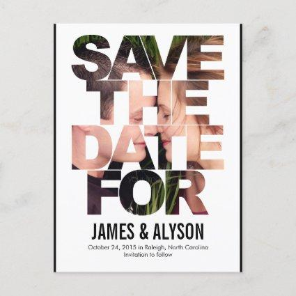 Chic Peek Save The Date Cards
