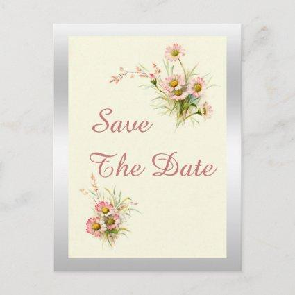 Chic Spring Flowers 90th Birthday Save The Date Announcement