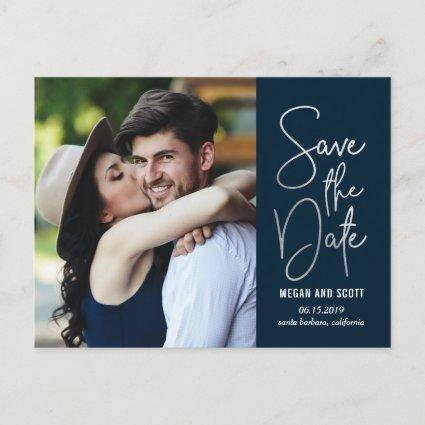 Chic Writing EDITABLE COLOR Save The Date Cards
