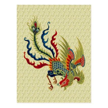 Chinese Rooster Art Design Cards