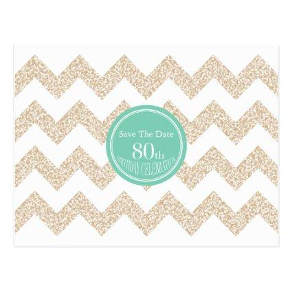 Choose Color 80th Birthday Party Save the Date P Cards