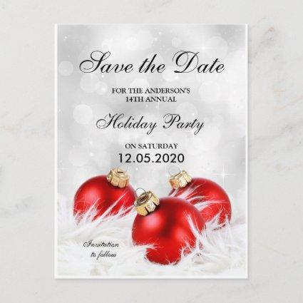 Christmas And Holiday Party Save The Date Announcements Cards