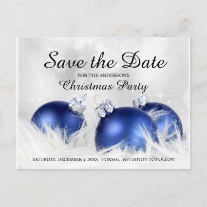 Christmas And Holiday Party Save The Date Announcement