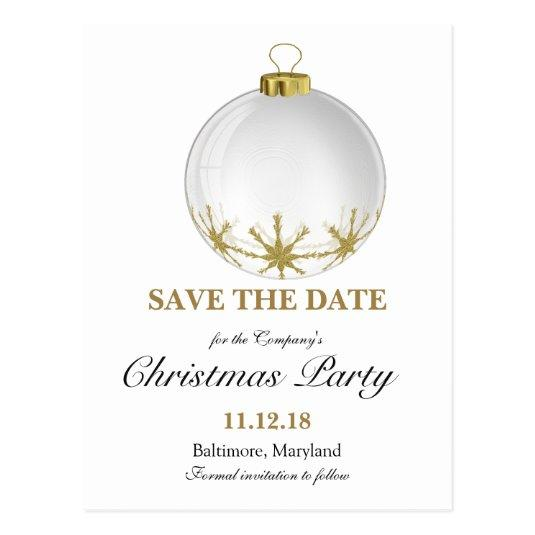 110 christmas ball star christmas party save the date cards - Whens Christmas