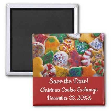 Christmas Cookies Colorful Holiday Save the Date Magnet