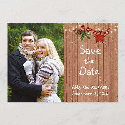 Christmas Country Photo Save the Date