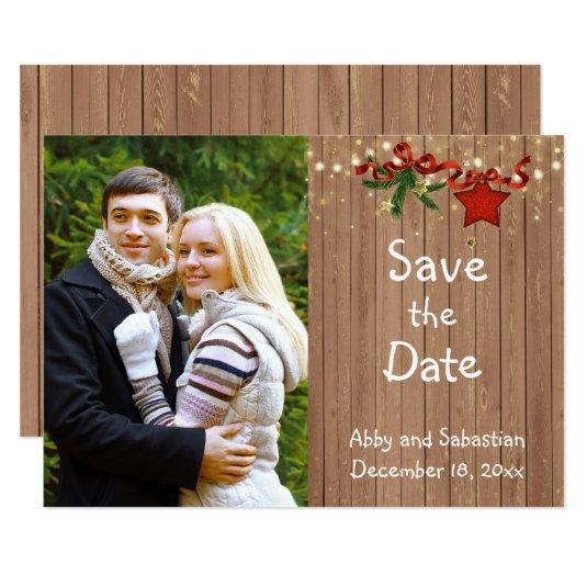 Christmas Country Photo Save the Date Cards