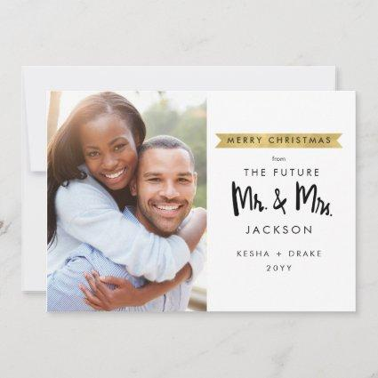 Christmas Future Mr and Mrs Photo Save The Date