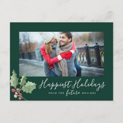 Christmas Greenery Happiest Holidays Save the Date Holiday