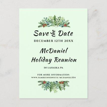 Christmas Holiday Family Reunion Save the Date Announcement