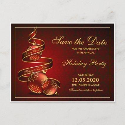 Christmas Or Holiday Party Save The Date Announcement
