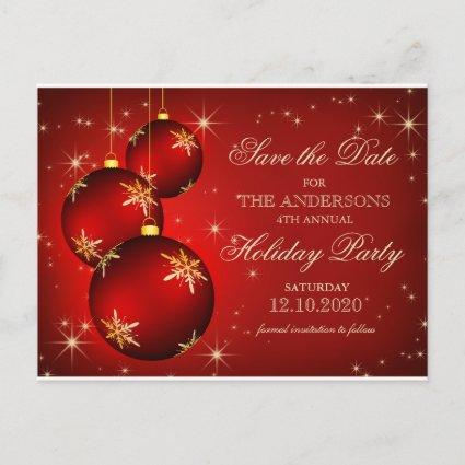 Christmas Or Holiday Party Save The Date Cards