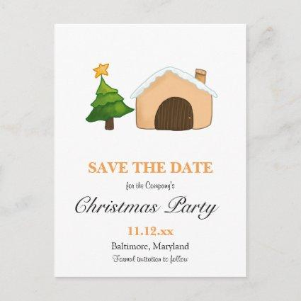 Christmas Party Cute Cottage Christmas Tree | Star Announcement