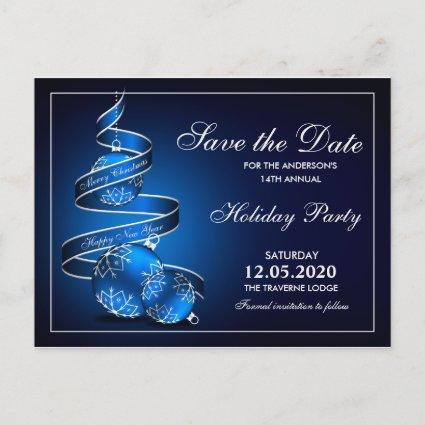 Christmas Party  In Blue Silver