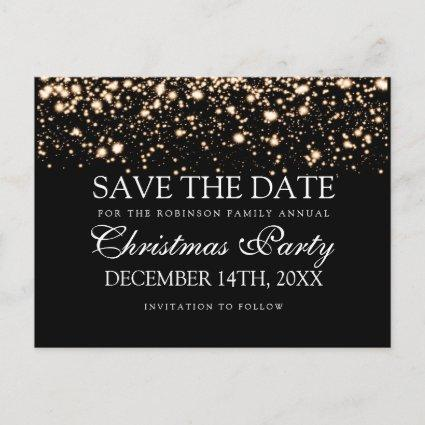 Christmas Party Save The Date Gold Midnight Glam Announcement