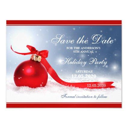 Christmas Party Save The Date Magnets