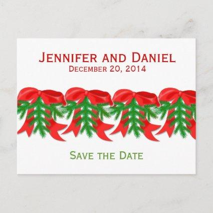 Christmas Save the Date Announcements Bows