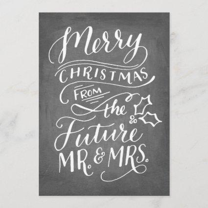 Christmas Save The Date No Photo Hand Lettered