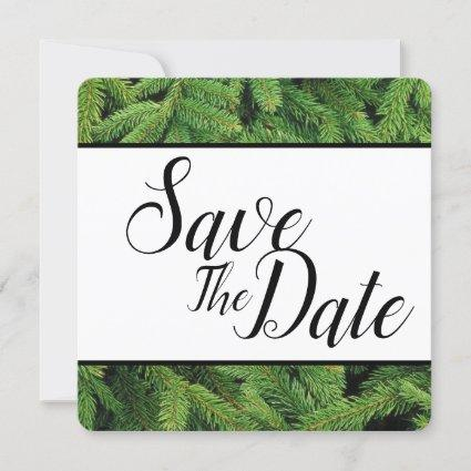Christmas Tree Branches Save The Date