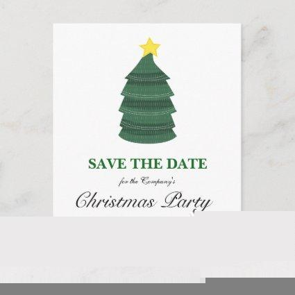 Christmas Tree Christmas Party Save The Date Announcement