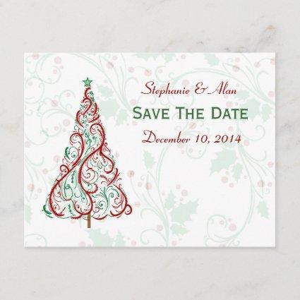 Christmas Tree Save The Date Card