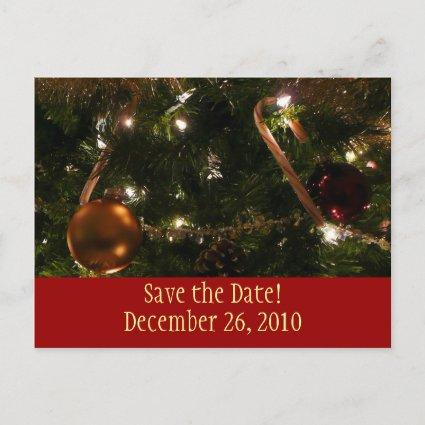 Christmas Tree Save the Date Cards