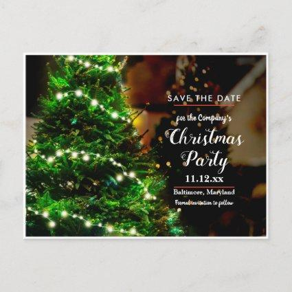 Christmas Tree String Of Lights | Save The Date Announcement