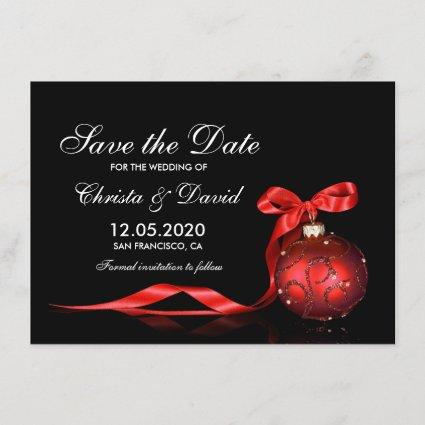 Christmas Wedding Save The Date Templates