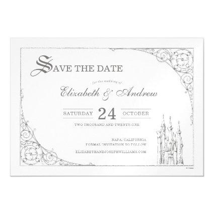 Cinderella Castle | Fairytale Save the Date Magnetic Invitation