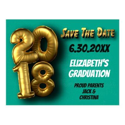 Class of 2018 Modern Graduation Save The Date Cards