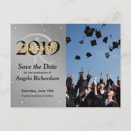 Class of 2019 Graduation Monogram Save the Date Invitation