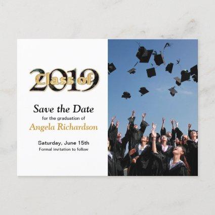 Class of 2019 Graduation Save the Date Photo Invitation