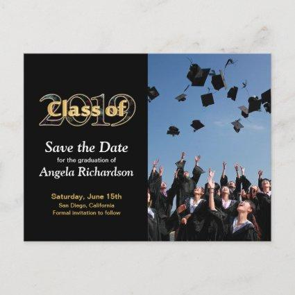 Class of 2019 Save the Date Graduation Photo Invitation