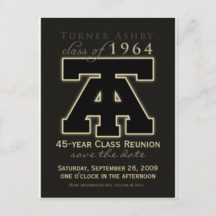 Class Reunion Save-the-Date Announcement
