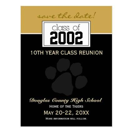 Class Reunion Save-the-Date Announcements (black) Cards
